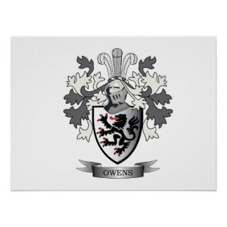 Owens Family Crest Coat of Arms Poster