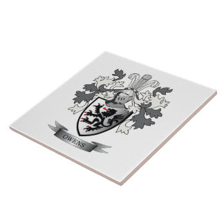 Owens Family Crest Coat of Arms Tile