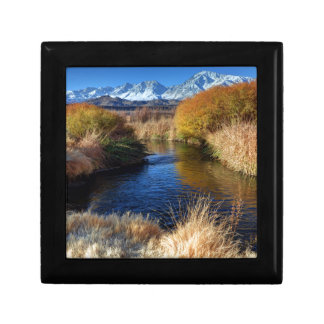 Owens River And Eastern Sierra Nevada Mountains Small Square Gift Box