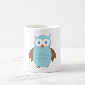 Owl 10 basic white mug