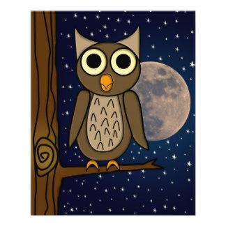Owl 11.5 Cm X 14 Cm Flyer