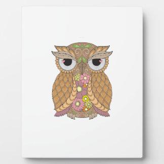 Owl 1 plaque