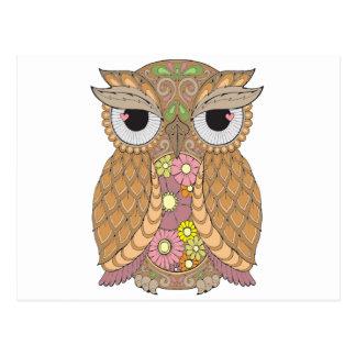 Owl 1 postcard