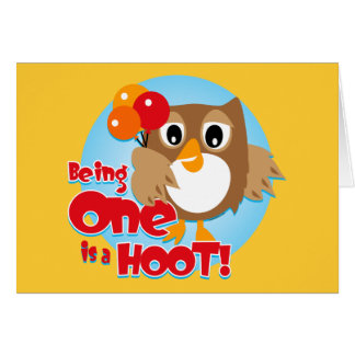 Owl 1st Birthday Card