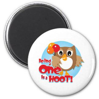 Owl 1st Birthday Magnets