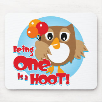 Owl 1st Birthday Mouse Pad