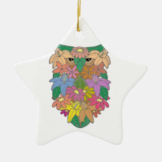 Owl 2 ceramic star decoration