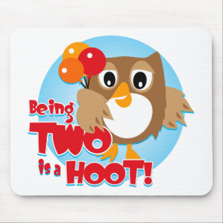 Owl 2nd Birthday Mouse Pads