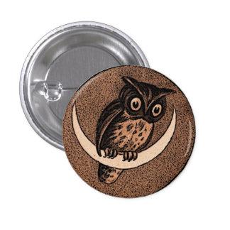 Owl 3 Cm Round Badge