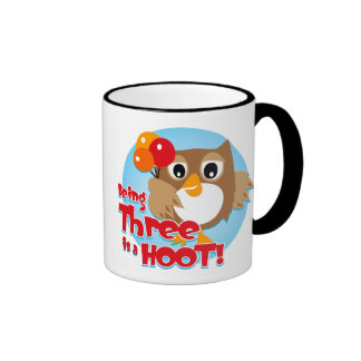 Owl 3rd Birthday Coffee Mugs
