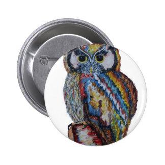 Owl 6 Cm Round Badge