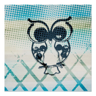 Owl Abstract Poster