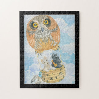 Owl Airship With Scotties Jigsaw Puzzle
