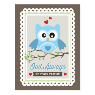Owl Always! by Origami Prints Valentine Postcard