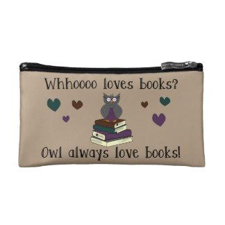 Owl Always Love Books Cosmetic Bags