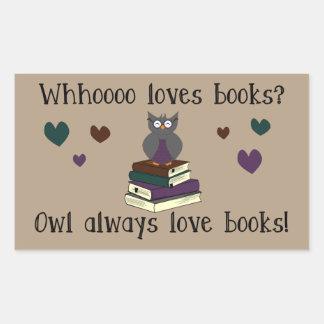 Owl Always Love Books Rectangular Sticker