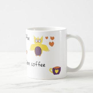 Owl Always Love Coffee Basic White Mug