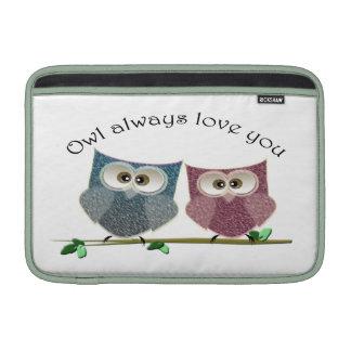 Owl always love cute, cute Owls iMac case MacBook Air Sleeve