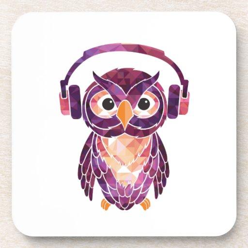 Owl Always love music Coasters