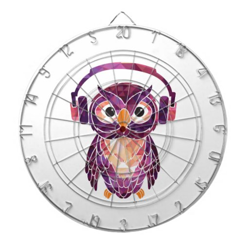 Owl Always love music Dartboard With Darts