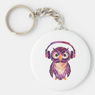 Owl Always love music Key Chains