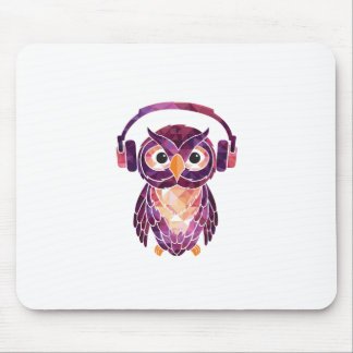 Owl Always love music Mouse Pad