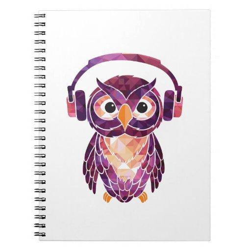 Owl Always love music Spiral Note Book