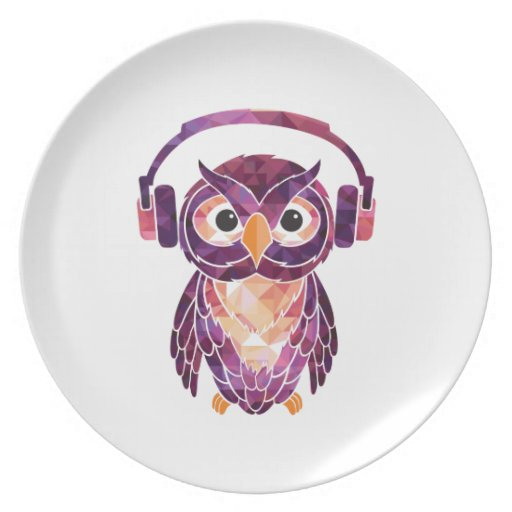 Owl Always love music Party Plate