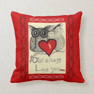 Owl Always Love you- American MoJo Pillow Cushion