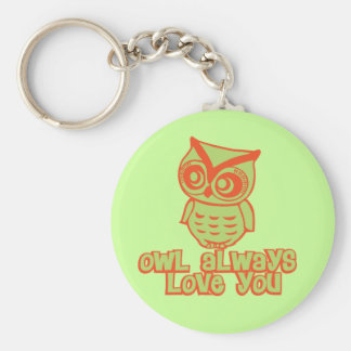 Owl Always Love You! Basic Round Button Key Ring