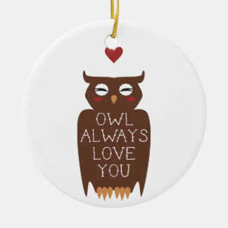 Owl Always Love You Christmas Ornament