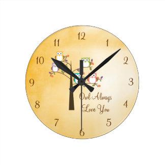Owl Always Love You Clocks