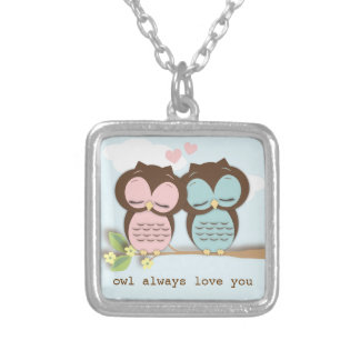 Owl Always Love You Couple Love Necklace