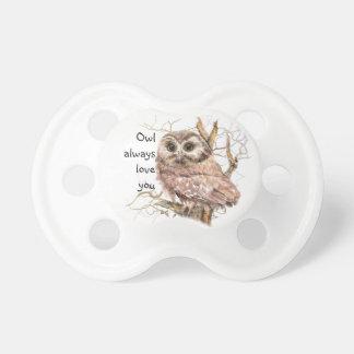 Owl Always Love You Cute Baby Owl, Bird Baby Pacifiers