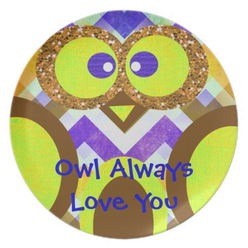 Owl Always Love You Cute Owl Kids Plate