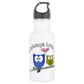 Owl always love you, cute Owls Art 532 Ml Water Bottle