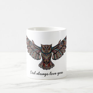 Owl always love you Mosaic Decorative Coffee Mug