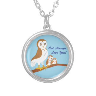 Owl Always Love You! Round Pendant Necklace