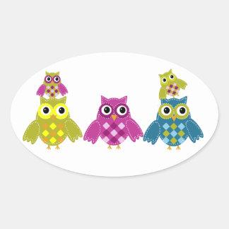 Owl Always Love You Oval Sticker