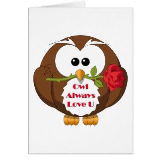 Owl Always Love You Theme Greeting Card