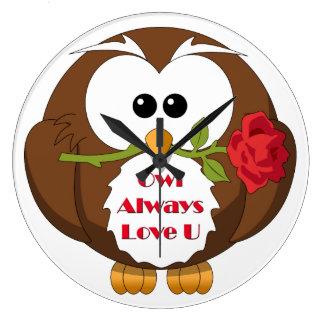 Owl Always Love You Theme Clock