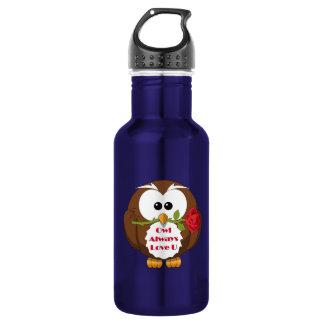Owl Always Love You Theme 532 Ml Water Bottle