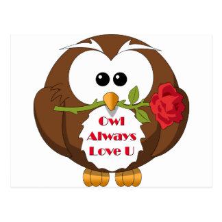 Owl Always Love You Theme Postcard
