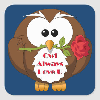 Owl Always Love You Theme Square Sticker
