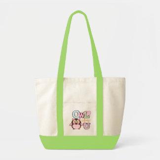 Owl always love you tote impulse tote bag