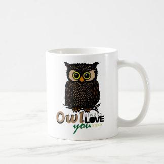 OWL always LOVE you XOXO Basic White Mug