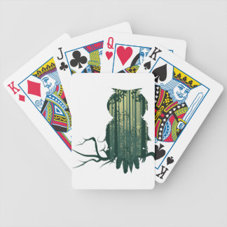 Owl and Abstract Forest Landscape2 Poker Deck