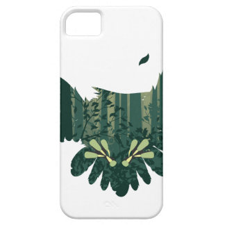 Owl and Abstract Forest Landscape Barely There iPhone 5 Case