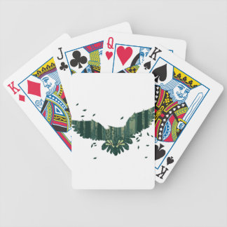 Owl and Abstract Forest Landscape Poker Deck