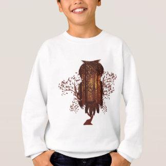Owl and Autumn Forest Landscape2 Sweatshirt